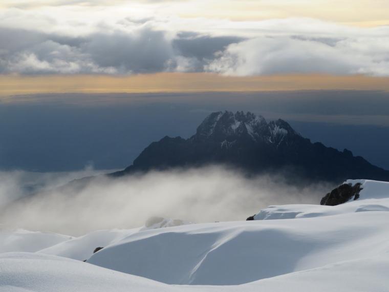 Mount Kilimanjaro : Mawenzi from summit ridge - © William Mackesy
