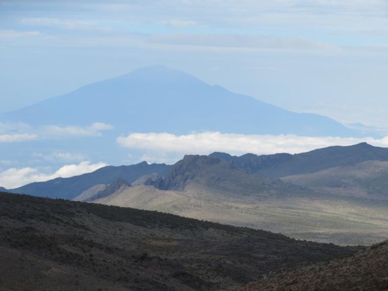 Mount Kilimanjaro : Meru from Lent Hill - © William Mackesy