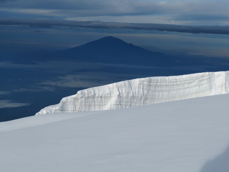 Mount Kilimanjaro : Meru from summit ridge - © William Mackesy