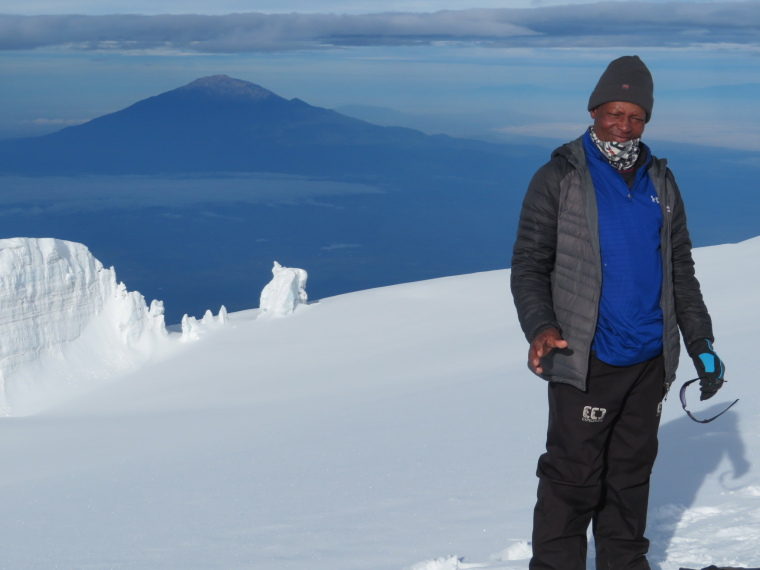Tanzania Mount Kilimanjaro, Trekking Kilimanjaro , Meru from summit ridge 2, Walkopedia