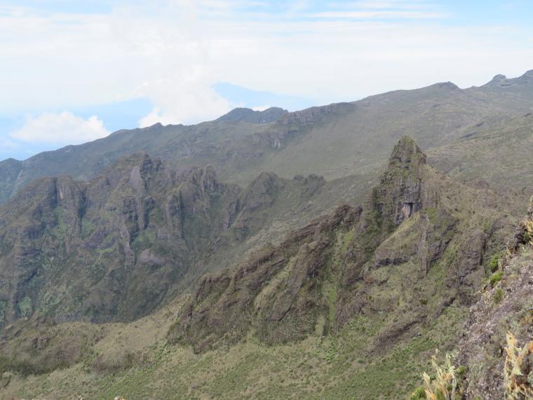Tanzania Mount Kilimanjaro, Trekking Kilimanjaro , Meru in distance from Shira Cathedral, Walkopedia