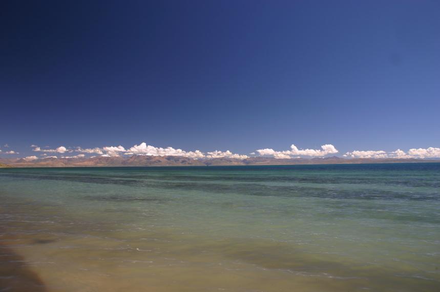 China Tibet, Lake Manasarovar, Looking north, Walkopedia
