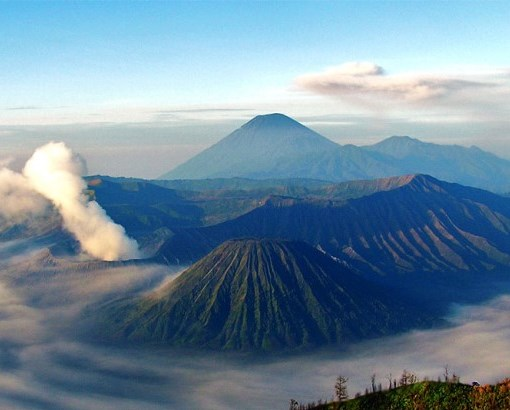 Mt. Bromo foreground, Mt. Semeru Background  - © flickr user- Riza Nugraha