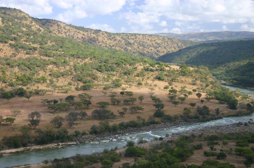 South Africa Kwazulu-Natal, The Fugitives' Trail, Isandlwana to the Buffalo River, The Fugitives' Drift, Walkopedia