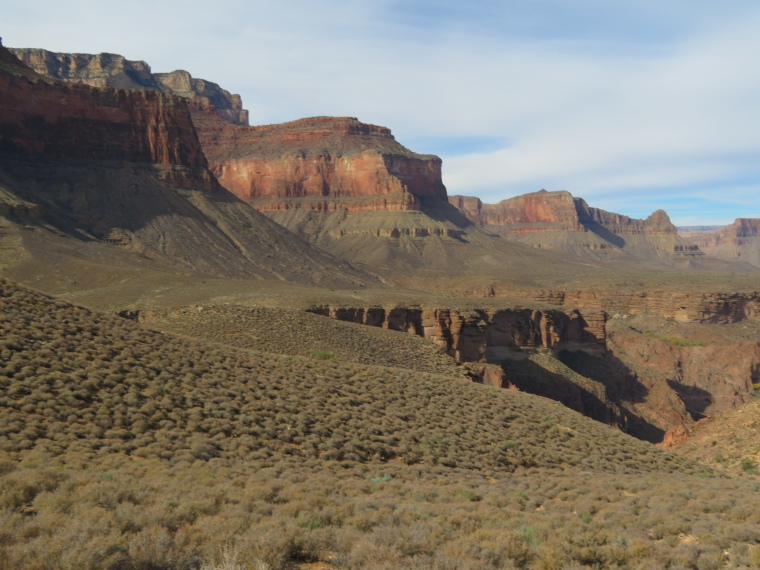 Tonto Trail: North Wall from Inner Plateau - © William Mackesy