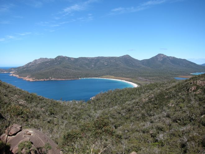 Wine Glass Bay From Lookout - © William Mackesy