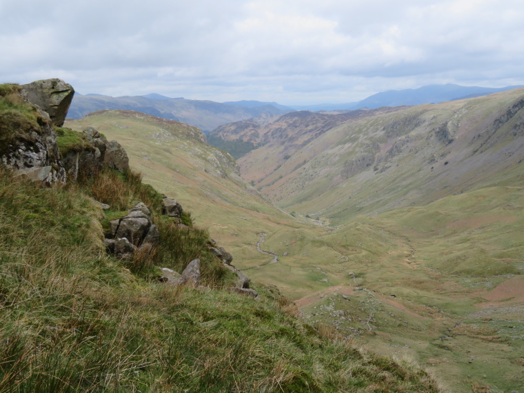 Coast to Coast:  From Lining Crag north down Greenup Gill - © William Mackesy