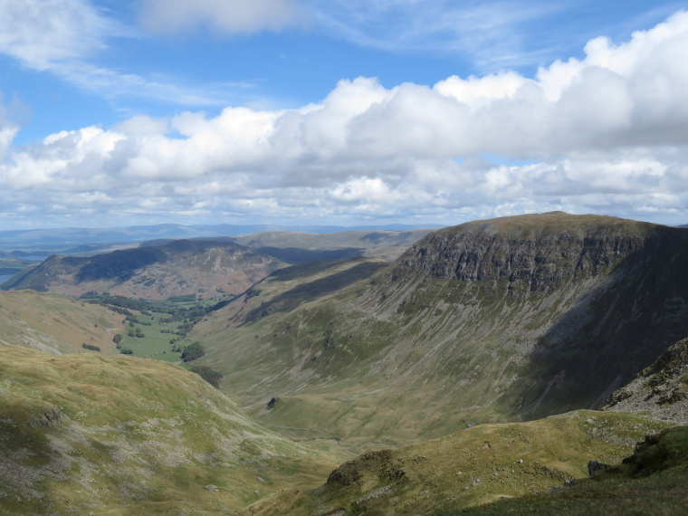 Coast to Coast: Patterdale and St Sunday Crag from Helvellyn - © William Mackesy