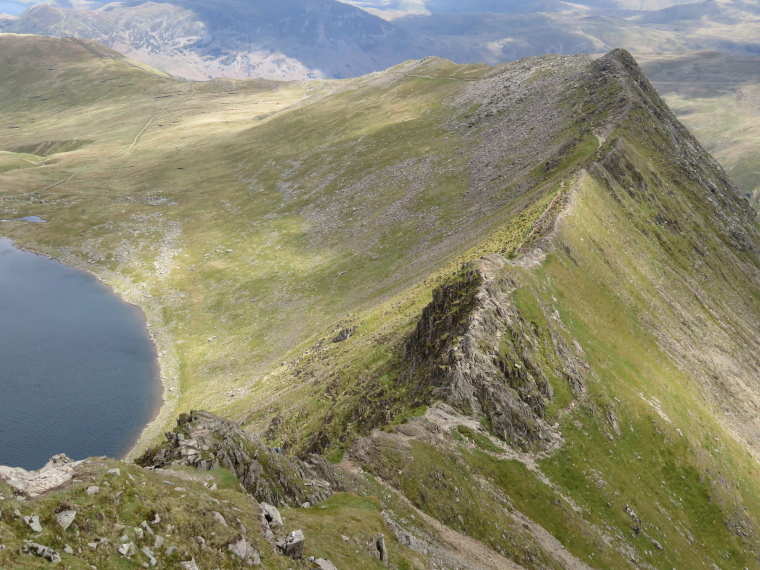 Striding Edge from above - © William Mackesy