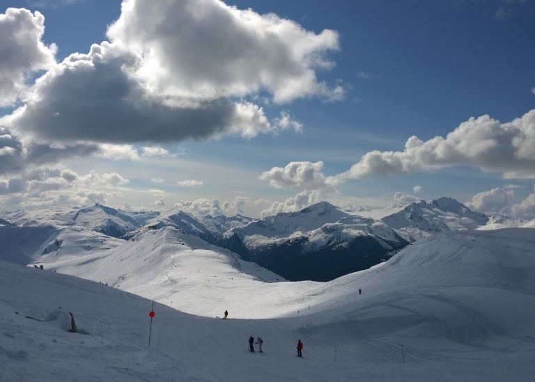 View towards Garibaldi Provincial Park from the top of Burnt Stew, Whistler winter  - © flickr user- Ruth Hartnup