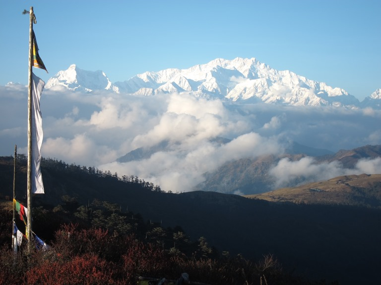 India Sikkim and nearby, Singalila Ridge to Kangchenjunga, Kanchenjunga from Sandakphu, evening light, Walkopedia