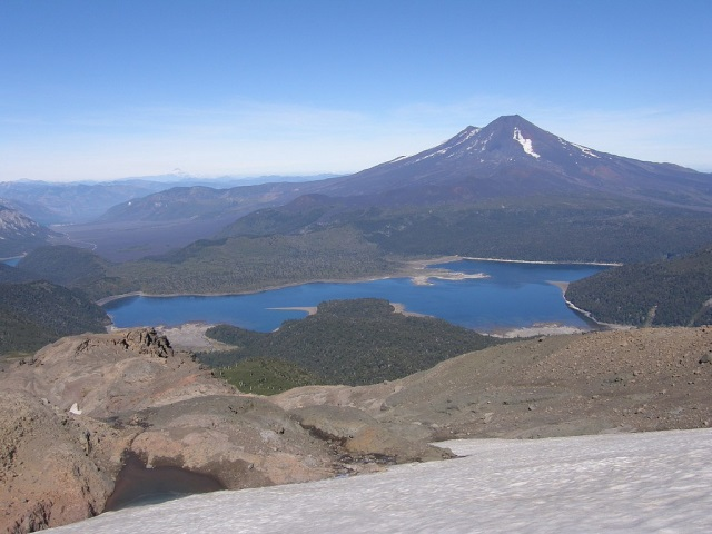 Chile Patagonia: Conguillio NP, Sierra Nevada, Sierra Nevada - view of Volcan Llaima, Walkopedia