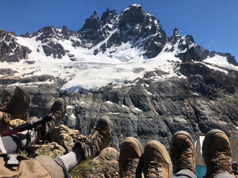 Chile Patagonia, Cerro Castillo, Cerro Castillo and boots, Walkopedia