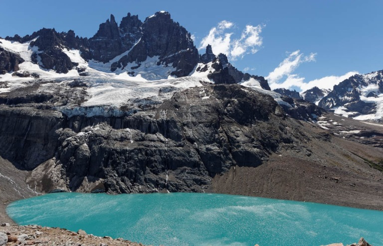 Cerro Castillo, its glacier and its lake  - © flickr user- Philippe Noth
