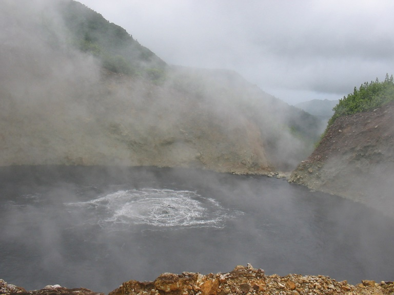 The Famous Boiling Lake  - © flickr user- Antoine Hubert