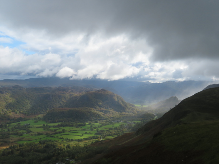 United Kingdom England Lake District, Catbells and High Spy, End of rainstorm, Borrowdale, Walkopedia