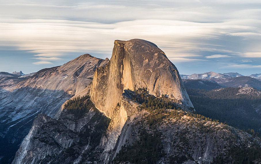 USA California Yosemite, Yosemite National Park, Half Dome from Glacier Point , Walkopedia