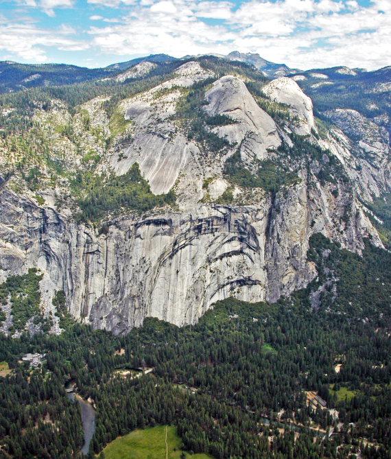 USA California Yosemite, Yosemite National Park, North Dome and Royal Arches , Walkopedia