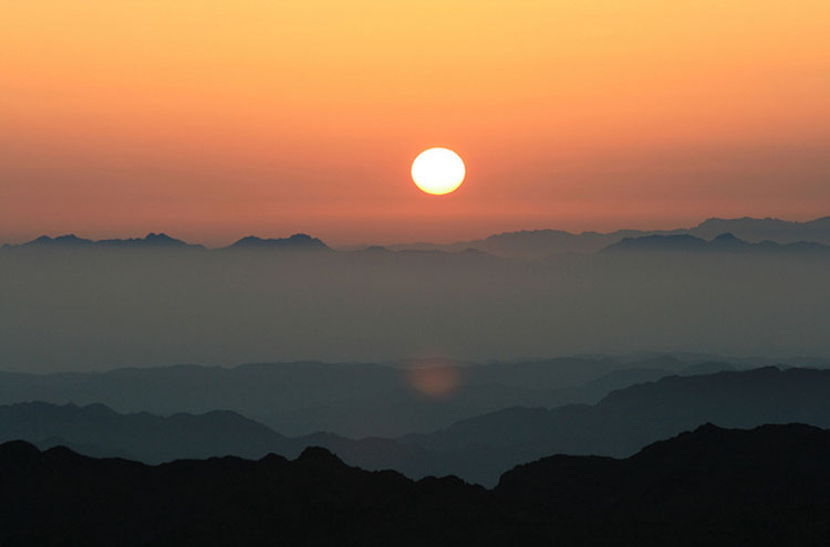 Sunrise on Mount Sinai - © From Flickr user KarlKarl