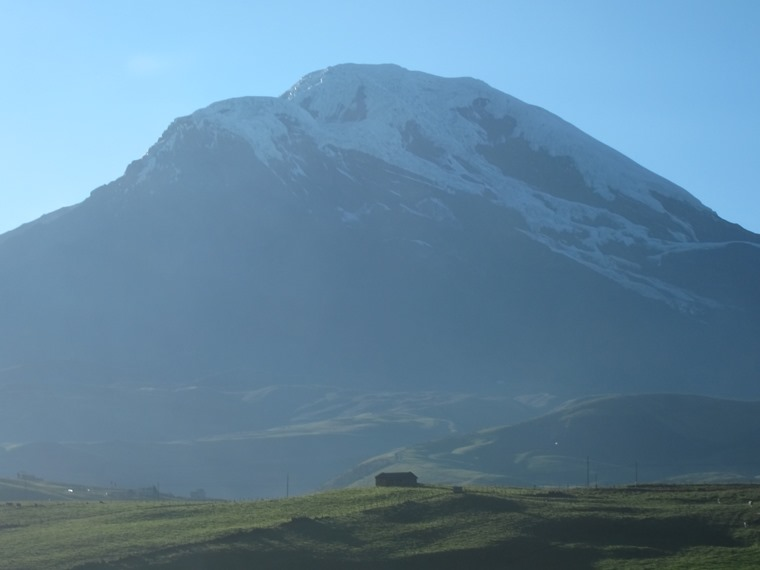 Chimborazo from Urbina, late afternoon - © William Mackesy