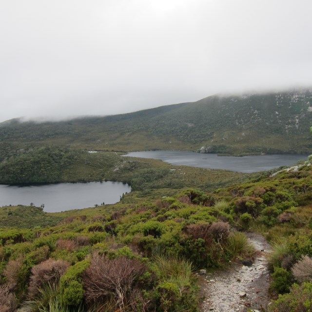 Cradle Mountain - Dove Lake on right - © Copyright William Mackesy