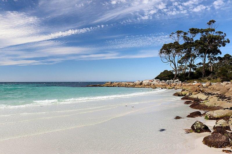 Australia Tasmania, Bay of Fires, Binnalong Bay, Bay of Fires Conservation Area, Walkopedia