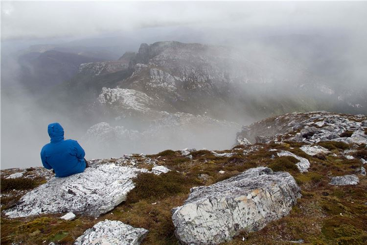 Frenchman's Cap: Clearing views from near the summit - © Peter Grant