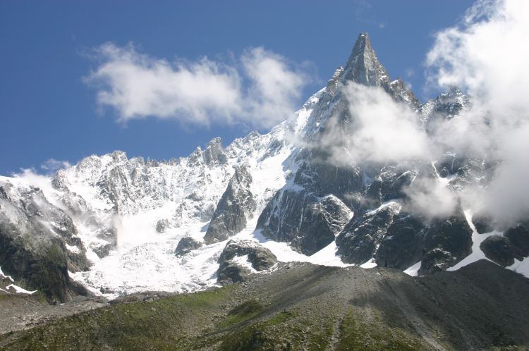 Grand Balcon Nord: Aiguille Vert from Signal Forbes - © William Mackesy