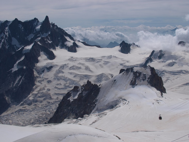 Aiguille du Midi, a view to Point Heilbronner  - © flickr user- tomislav medak