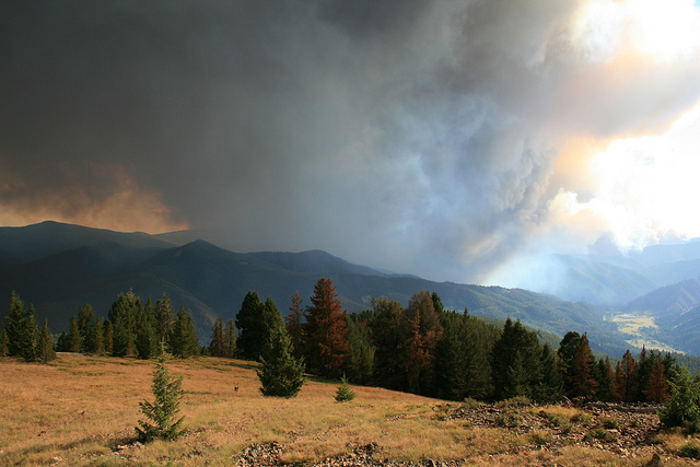 Bitterroot Mountains - Forest fires - © Copyright Flickr User Forest Service - Northern Region