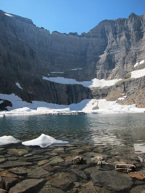North Circle: North Circle - Iceberg Lake below the Ptarmigan Wall - © Copyright Flickr User wisepig