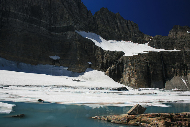 Grinnell Glacier Trail - Grinnell Glacier - © Copyright Flickr User Navin75
