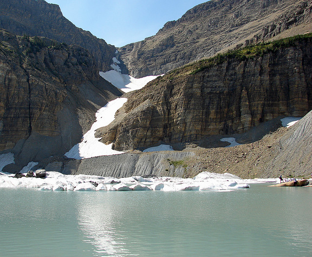Grinnell Glacier Trail - Grinnell Glacier - © Copyright Flickr User uff da! chronicles