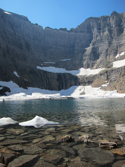 Iceberg Lake Trail - Iceberg Lake and Ptarmigan Wall - © Copyright Flickr User wisepig