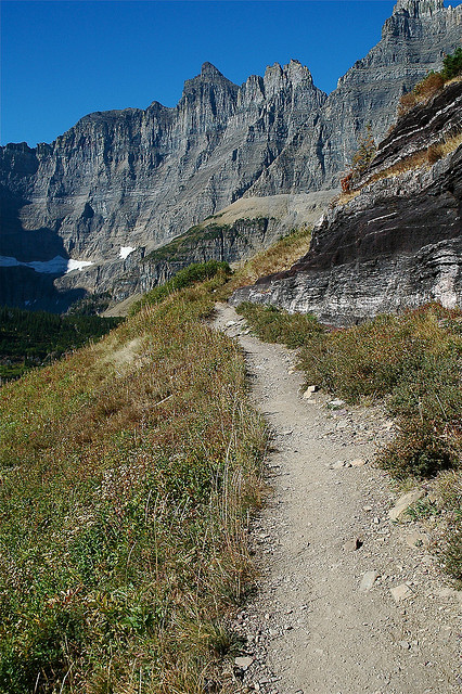 Iceberg Lake Trail - On the trail - © Copyright Flickr User Vladeb