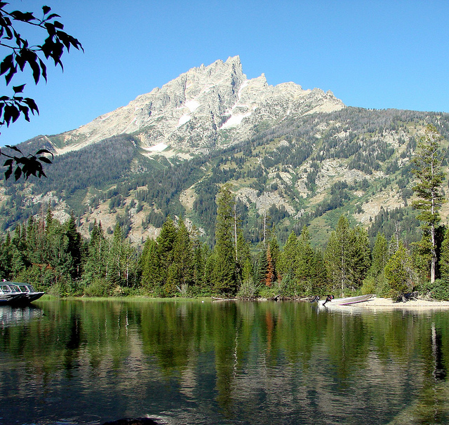 Grand Teton National Park - Grand Teton From Jenny Lake - © Copyright Flickr User Inkknife_2000