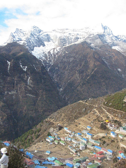 Bhote Kosi Valley - Namche From above - © Copyright Flickr user apurdam (Andrew)