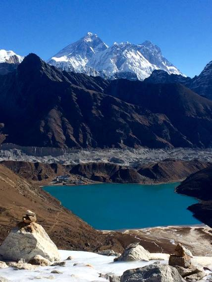 Gokyo Valley: Gokyo and Everest  - © Marylin Ellem...