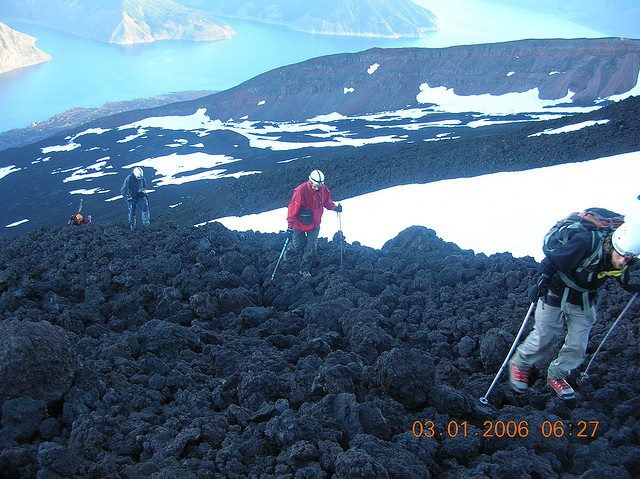 Volcan Antuco: Hikers on Volcan Antuco - © Copyright Flickr user turismolawal