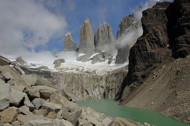 Torres del Paine Lookout - the classic view - © Copyright Flickr user bugmonkey