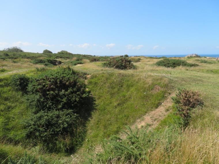 France Normandy, D-Day Beaches, German battery above Omaha (2), Walkopedia