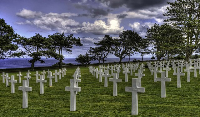 D-Day Beaches - American cemetery - © Copyright Flickr user stephenminnig