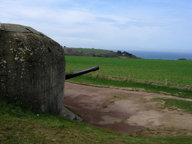 D-Day Beaches: D-Day Beaches - Longues sur Mer battery - © Copyright Flickr user Richard_of_England