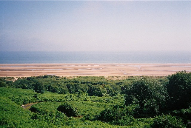 D-Day Beaches - Omaha, From the American cemetery - © Copyright Flickr user Kelmon