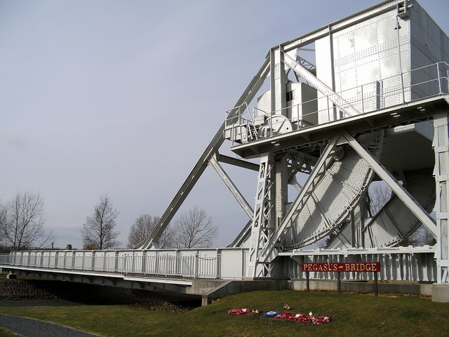 D-Day Beaches - Pegasus Bridge - © Copyright Flickr user Richard_of_England