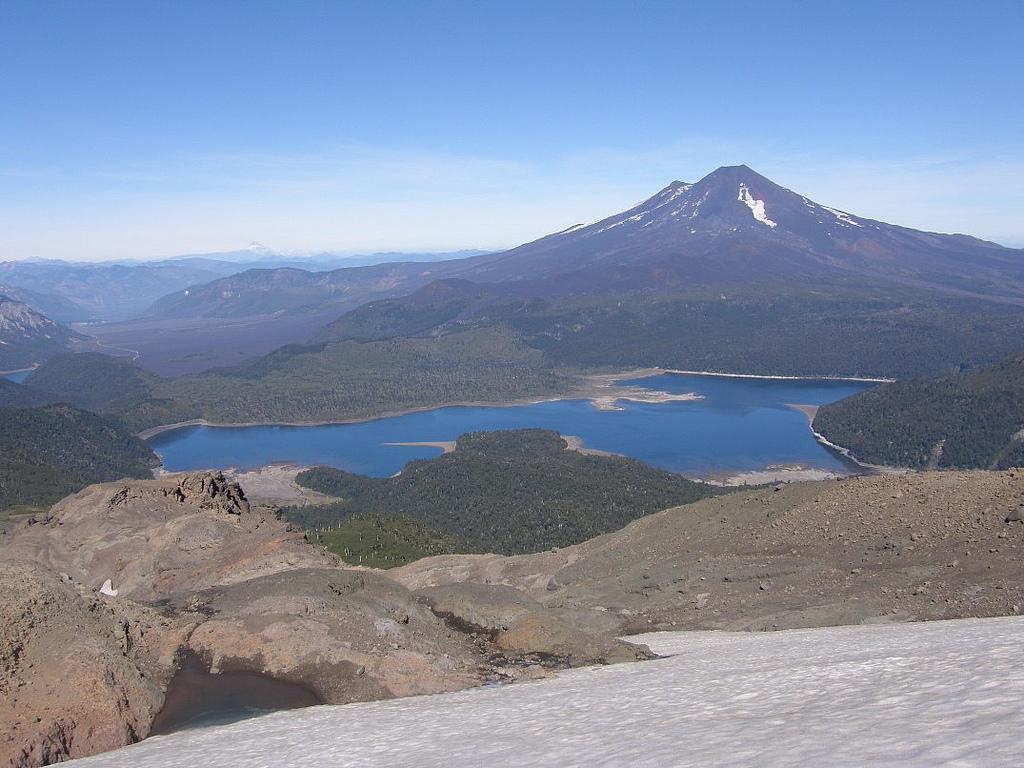 Above Laguna Conguillio: Above Laguna Conguillio - Volcan Llaima From Sierra Nevada - © Copyright Flickr user Pato Novoa