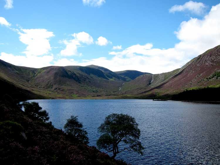 South along Loch Muick, pasing cloud effect