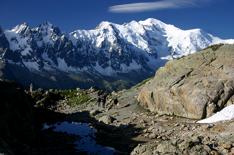 Mt Blanc from Lac Blanc, early light