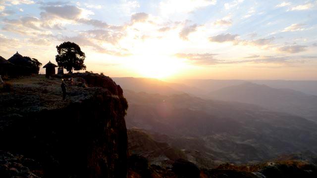 Escarpment edge, sunset