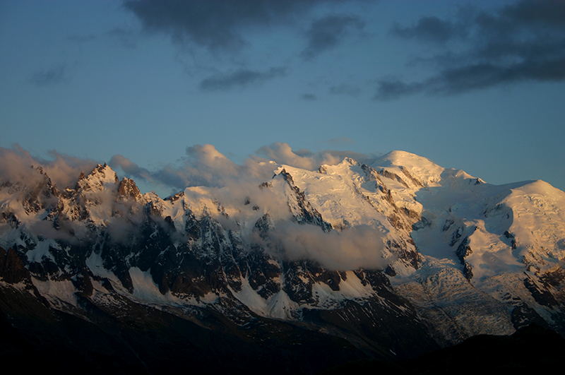 Mt Blanc from Lac Blanc, sunset